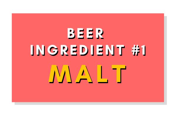 Beer Ingredient #1: Malt