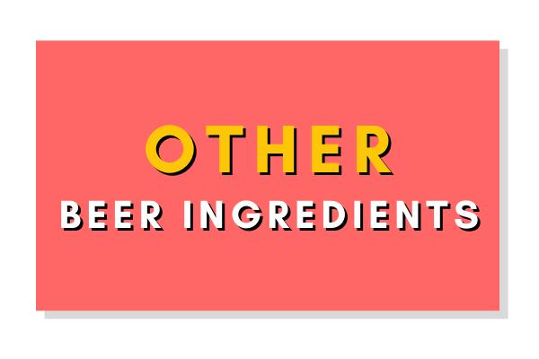 Other Beer Ingredients